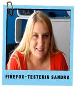 Firefox Testerin Sandra