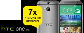 Gewinn-Chance auf 1 von 7 HTC ONE (M8) sichern!