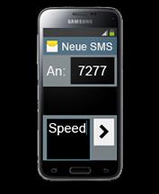 Einfach per SMS zubuchen!