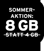 Allnet Flat mit 8 GB statt 4 GB